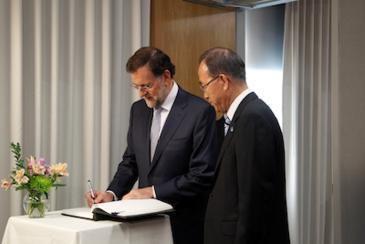 Rajoy y Ban Ki Moon